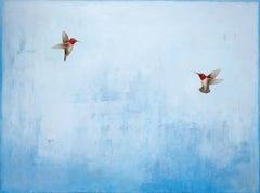 Gems in the Sky by Jessica Pisano, Contemporary Bird Painting on Board
