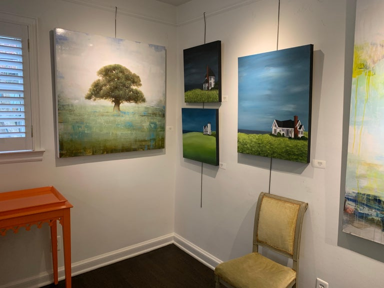 Old Oak by Jessica Pisano, Square Contemporary Tree Painting on Board 1