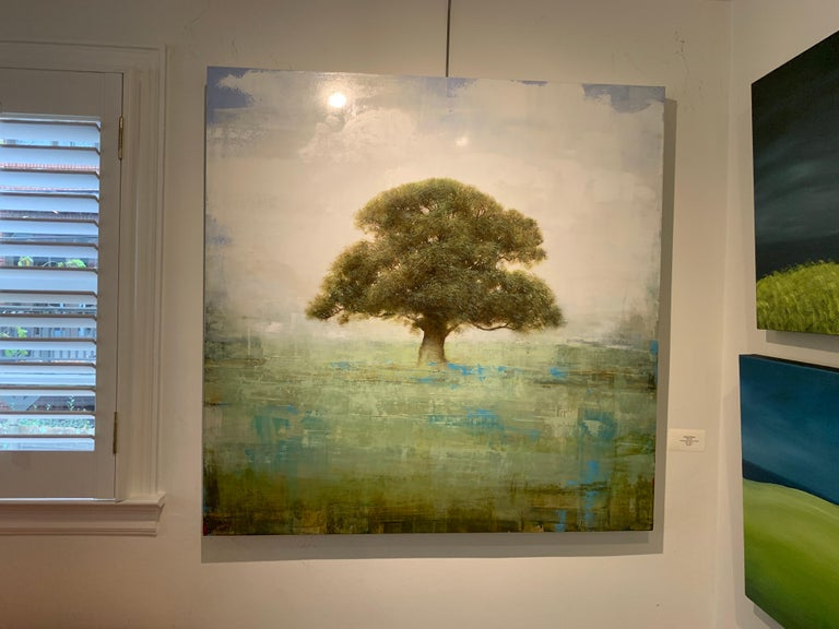 Old Oak by Jessica Pisano, Square Contemporary Tree Painting on Board 2
