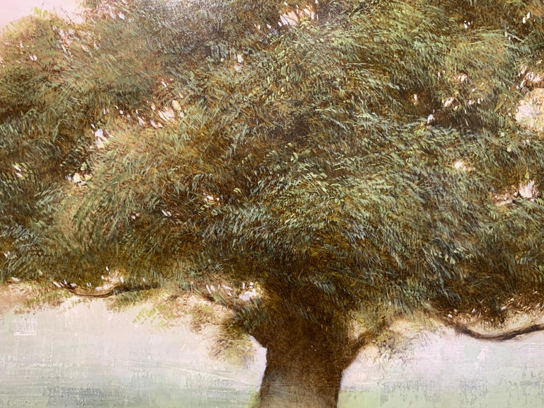Old Oak by Jessica Pisano, Square Contemporary Tree Painting on Board 4