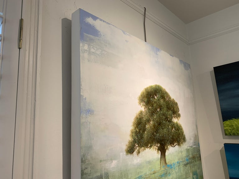 Old Oak by Jessica Pisano, Square Contemporary Tree Painting on Board 7