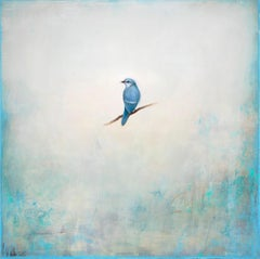 Sapphire in the Sky by Jessica Pisano, Contemporary Bird Painting on Board