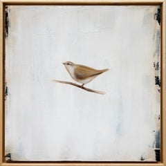 Suspended in Time III by Jessica Pisano, Contemporary Bird Painting on Board