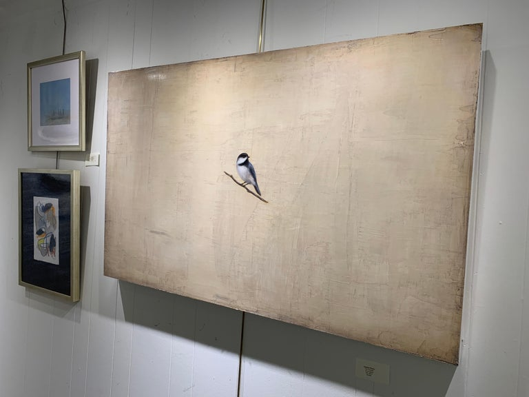 The Traveler by Jessica Pisano, Contemporary Bird Painting on Board 2