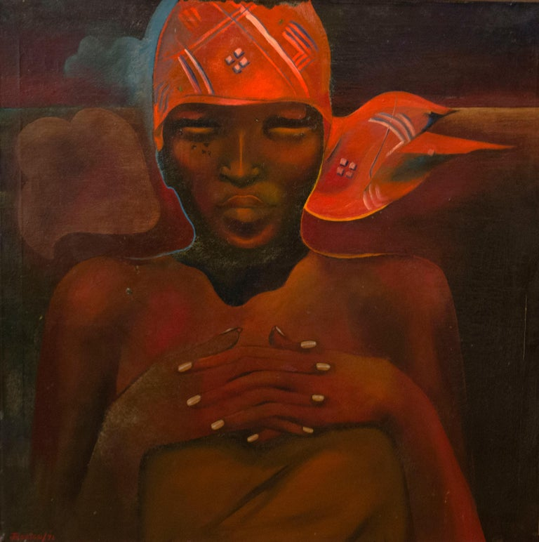 Jessica Rice Figurative Painting - Africa