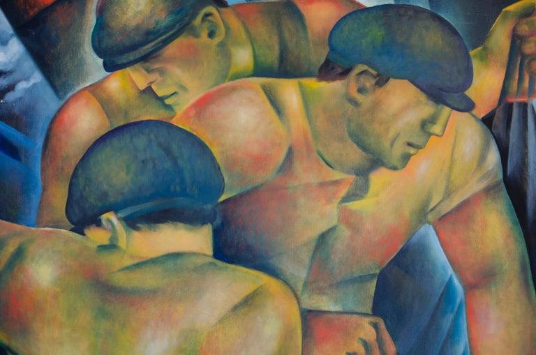 Hommes de la Mer - Painting by Jessica Rice
