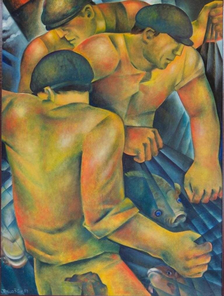 Jessica Rice Portrait Painting - Hommes de la Mer