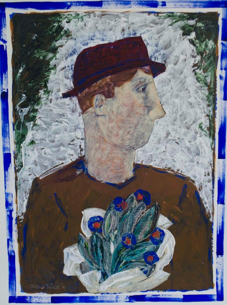 Jessica Rice Figurative Painting - Les Fleurs