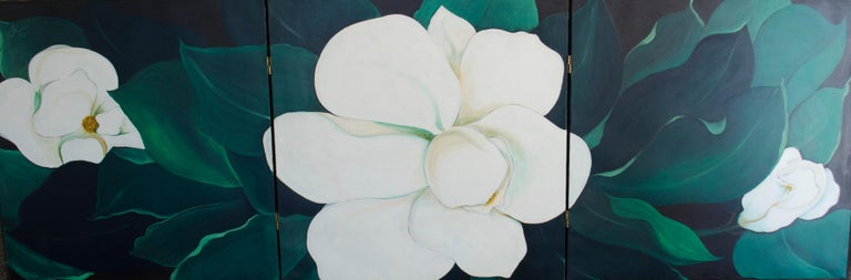 Jessica Rice Still-Life Painting - Magnolias