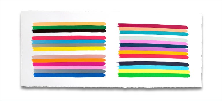 Jessica Snow Abstract Painting - Color stack plural 4