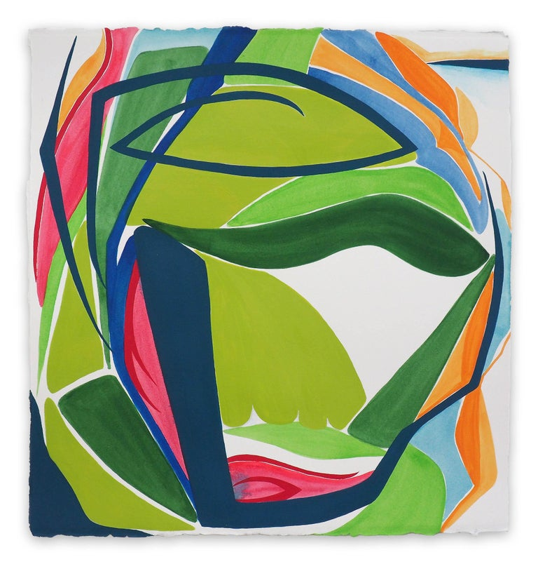 Jessica Snow Abstract Painting - Terra Incognita 5