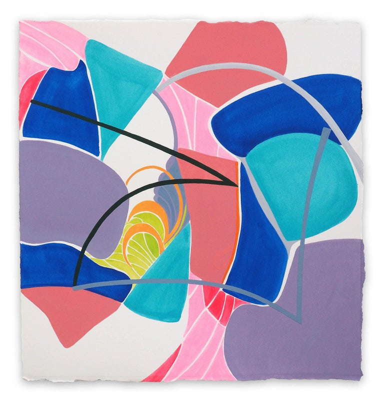 Jessica Snow Abstract Drawing - Terra Incognita 7