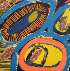 537, Jessie Woodward, Original Abstract Acrylic And Glitter Painting, Colourful