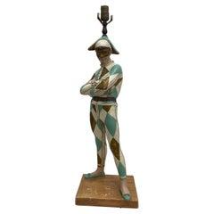 Jester, Harlequin Table Lamp Mid Century