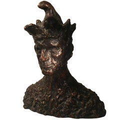 Jester Sculpture in the style of Pablo Picasso