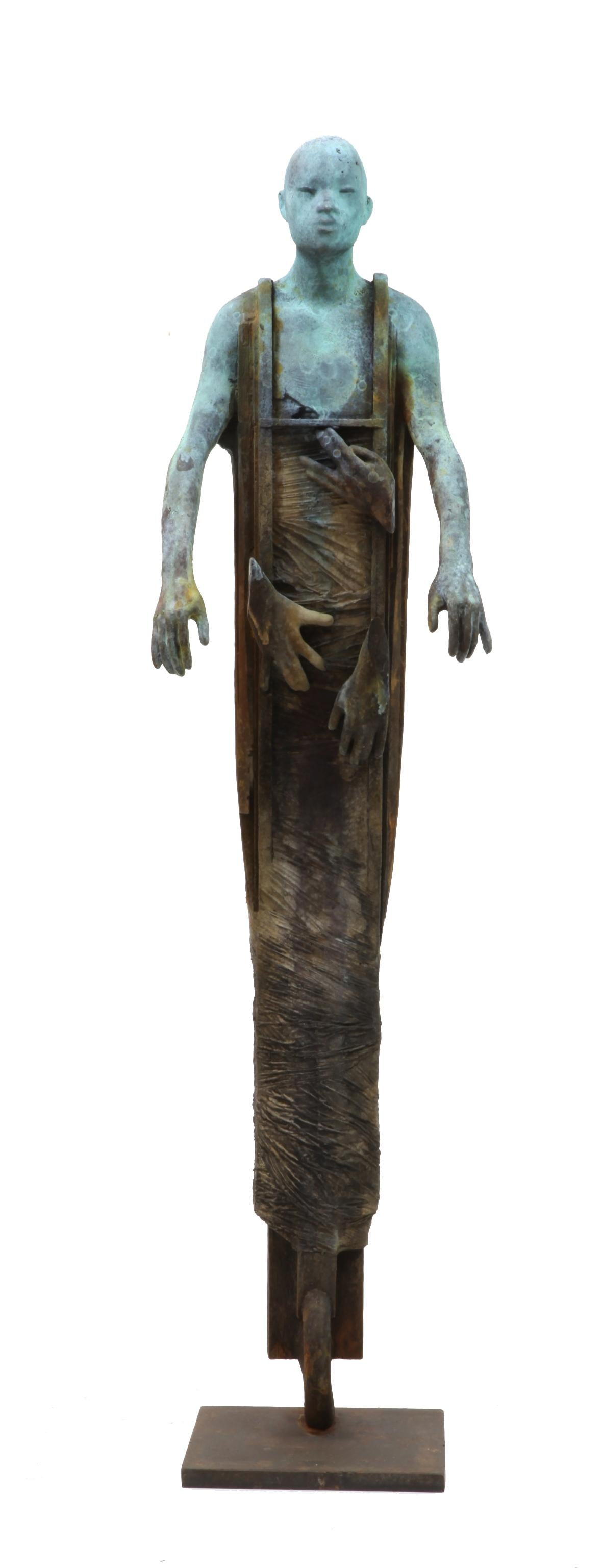 Centauro - Cast Bronze Figure Geometric and Organic Elements by Jesús Curiá