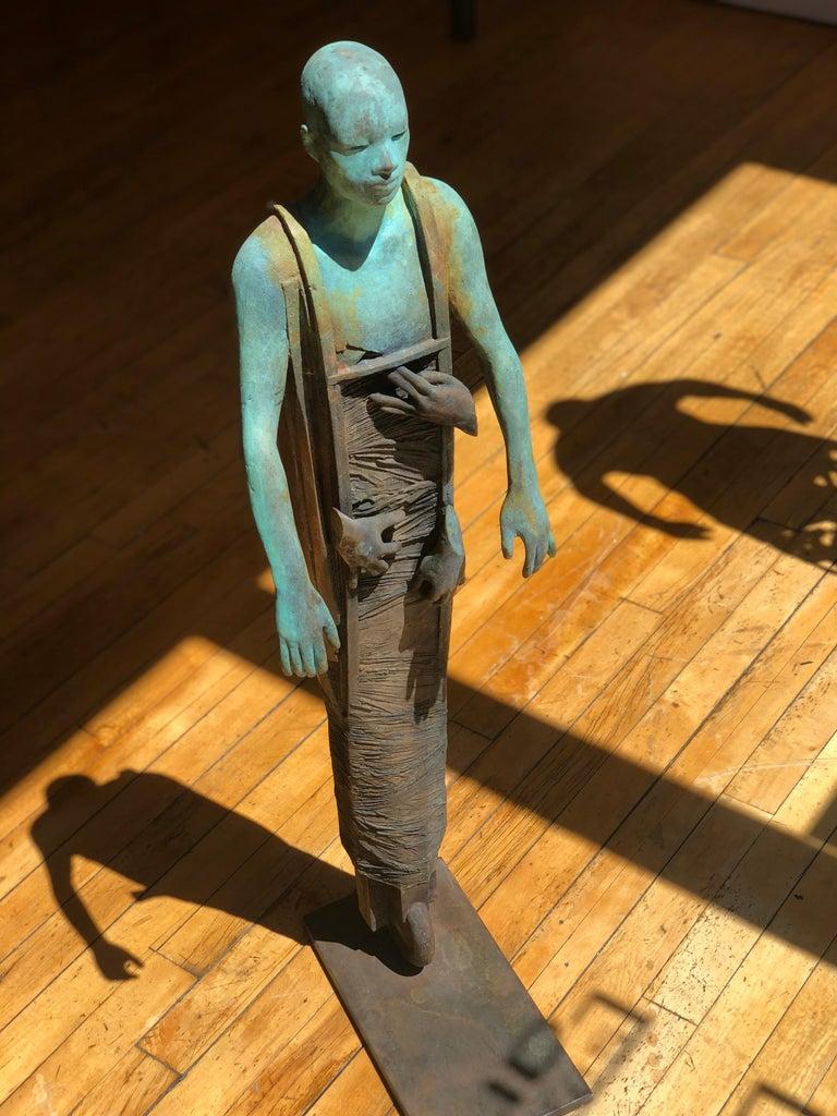 Centauro - Cast Bronze Figure Geometric and Organic Elements by Jesús Curiá For Sale 8