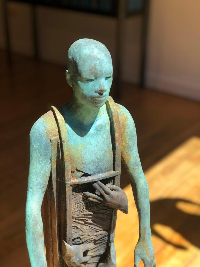 Centauro - Cast Bronze Figure Geometric and Organic Elements by Jesús Curiá For Sale 4