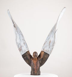 Helicoide IV, 2015, Jesus Curiá, Figurative Art, Bronze wood Sculpture, Brown