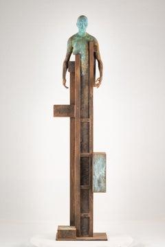 Mojado, 2016, Jesus Curiá, Contemporary Art, Bronze and iron Sculpture, Brown