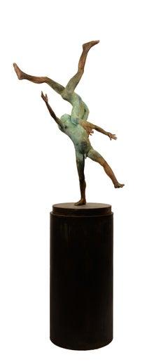 Pugnatum II, Renaissance Inspired Bronze Sculpture of Two Aerial Performers