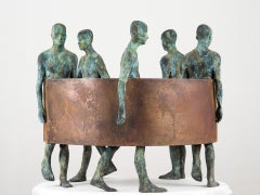 Sin Fin III, 2012, Jesus Curiá, Figurative Art, Bronze Sculpture, Green, brown