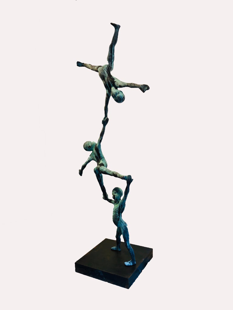 Trio III - Sculpture by Jesus Curia Perez