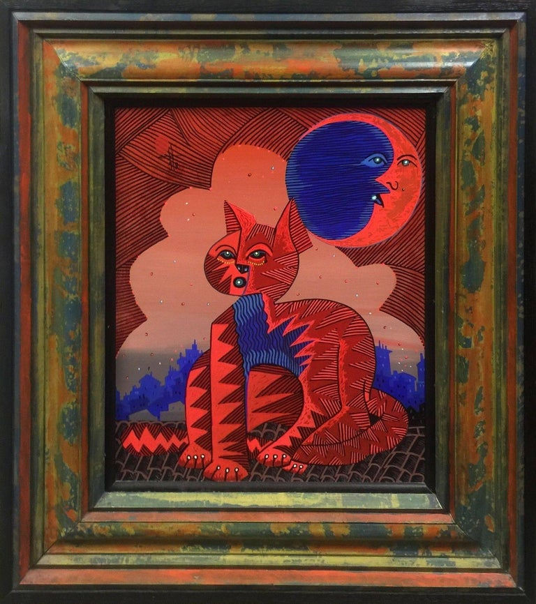 Jesus Fuertes Animal Painting - RED GATO