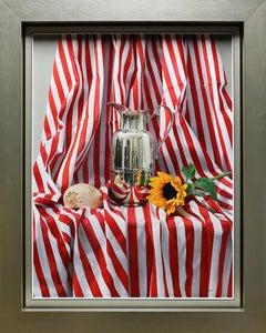 """Still Life"", Jesus Navarro, Oil on Canvas, 31x24 in., PhotoRealism, Sunflowers"