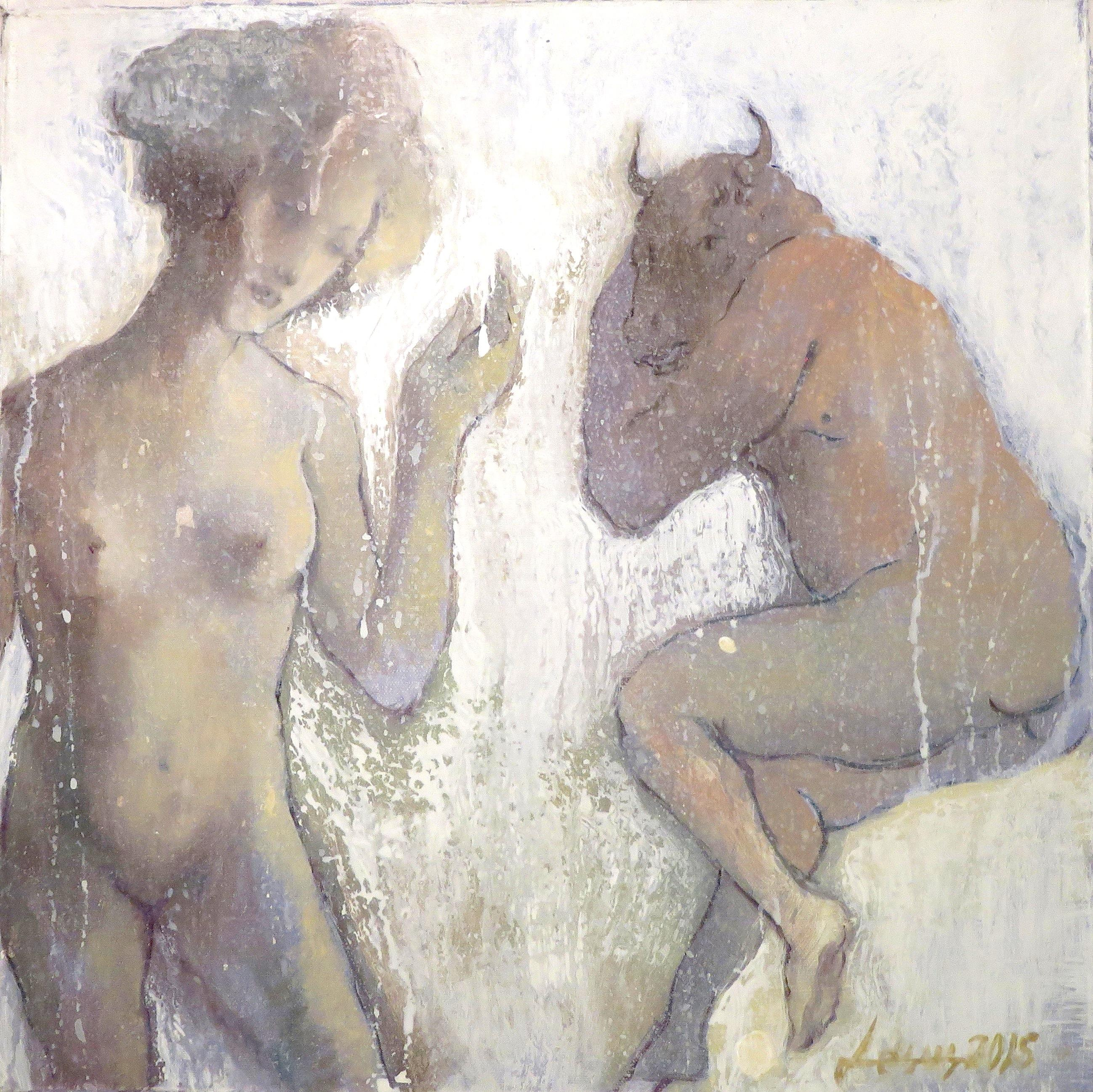 Women with Resting Roman Minotaur