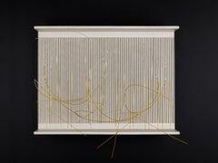 Jesús Rafael Soto, Escritura Blanca y Cadmio, Paint Wood, Metal, and Nylon, 1977
