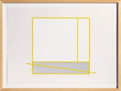 Le Tour Jaune, Minimalist Kinetic Silkscreen by Jesus Rafael Soto