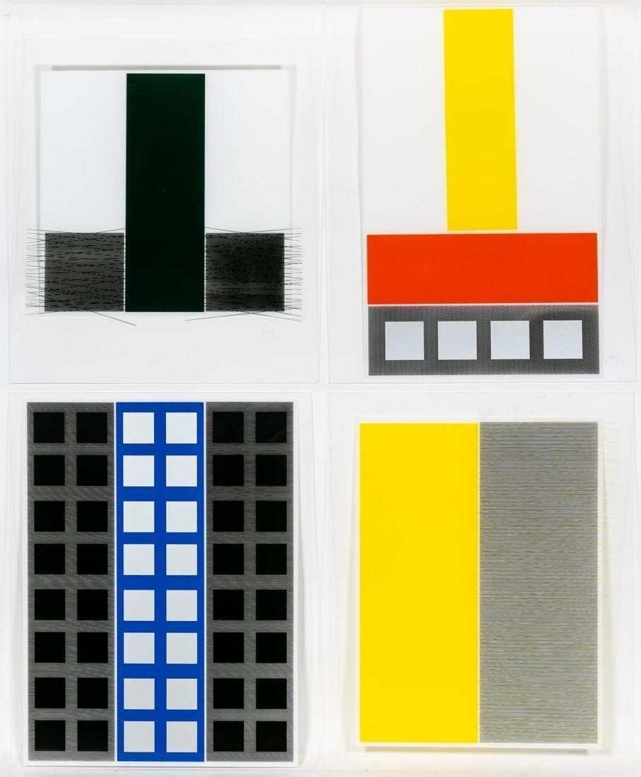 "Screenprints A, B, C, D from the ""Jai-Alai Series"""