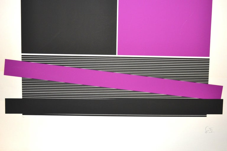 Untitled, (Black And Silver), Original Screen Print 1970s For Sale 7