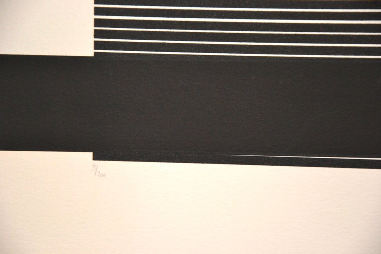 Untitled, (Black And Silver), Original Screen Print 1970s For Sale 14