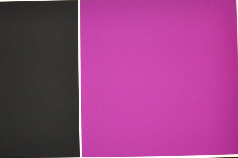 Untitled - (Black And Silver) is a very colorful artwork realized by Jesús-Rafael Soto in the 1970s.  Mixed colored serigraph on paper.   The print is hand-signed in pencil on the lower right. Numbered on the lower left. Edition 9/200.  Embossed