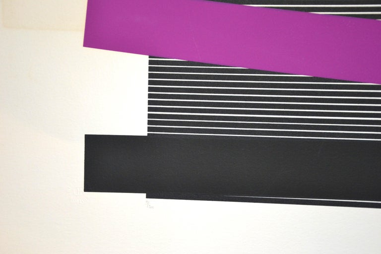 Untitled, (Black And Silver), Original Screen Print 1970s For Sale 6