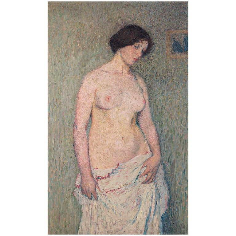 """Jeune femme nue"" by Henri Martin For Sale"