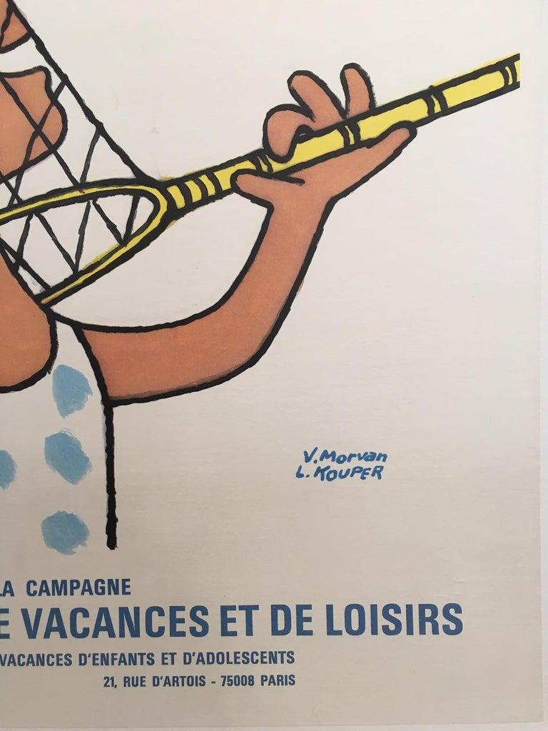 International Style 'Jeunesse au Plein Air', by V. Morvan & L. Kouper Original Vinage French Poster For Sale