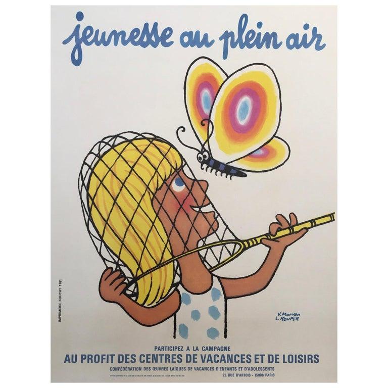 'Jeunesse au Plein Air', by V. Morvan & L. Kouper Original Vinage French Poster For Sale