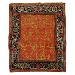 Jewel Tone Early 20th Century Superfine Quality Antique Persian Jozan Souf Mat