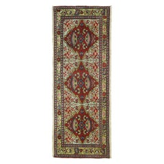 Jewel Tone Fine Quality Antique Persian Malayer Narrow Horizontal Woven Rug