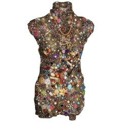 Jeweled Beaded Mannequin Torso Bohemian Art