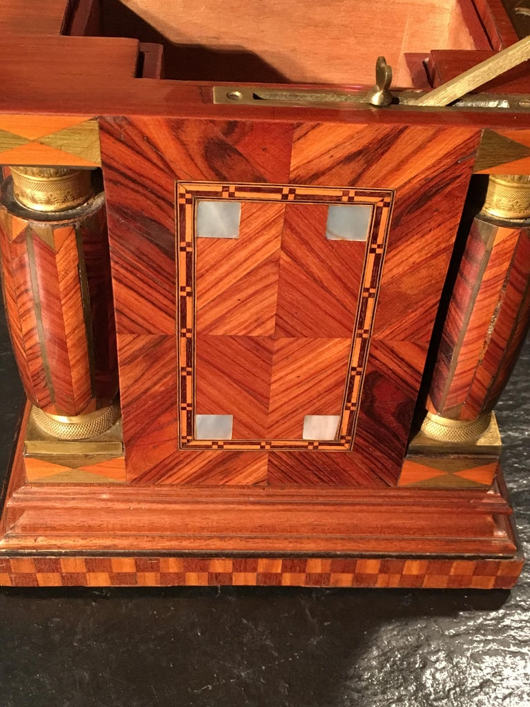 Jeweler Box in Marquetry of Different Woods and Applications, circa 1930 In Good Condition For Sale In Saint-Ouen, FR