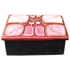 Jewellery Box with Decorative Enamel Lid by François Lembo, circa 1960s