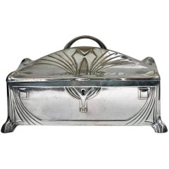 Jewelry Box WMF Jugendstil Secessionist Silver Plate Germany, circa 1906