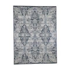 Jewellery Design Tone On Tone Half Wool & Half Silk Hand Knotted Rug