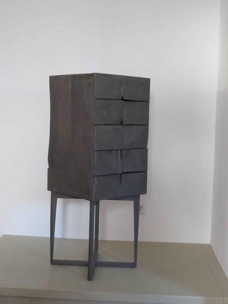 German Jewelry Cabinet Titanium For Sale