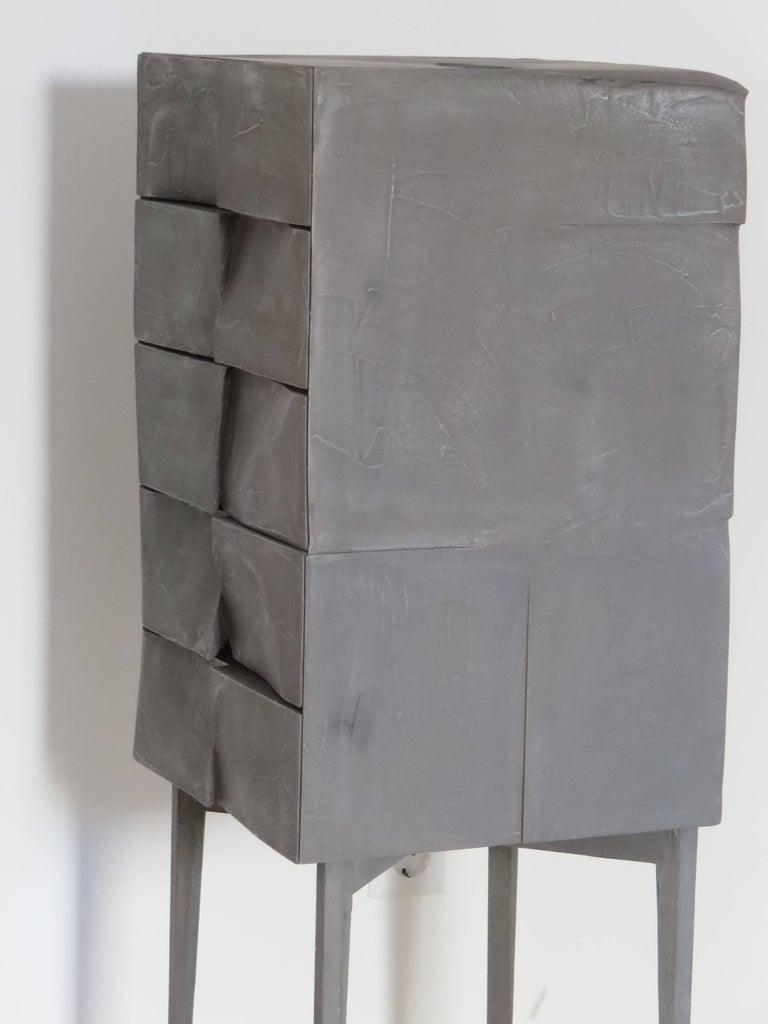 Contemporary Jewelry Cabinet Titanium For Sale