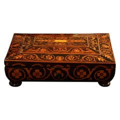 Jewelry Box, Rosewood/Maple with Floral Inlays, Vienna, circa 1860